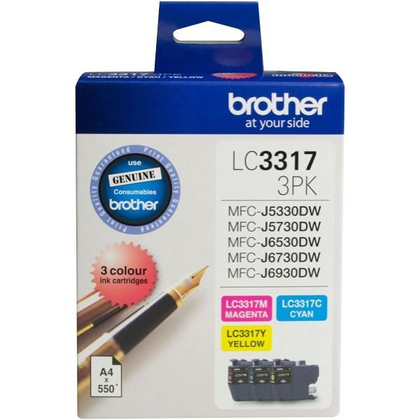 Brother OEM 3317  3 Pack Ink Cartridges - Click to enlarge