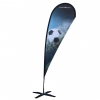 Teardrop Banner 2.1m Single Inc Base - Click for more info