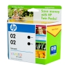 HP OEM #02 Black Twin Pack - Click for more info